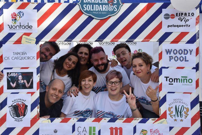 Éxito de participación na III edición de Barbeiros Solidarios a favor da Asociación de Persoas con Discapacidade Vontade