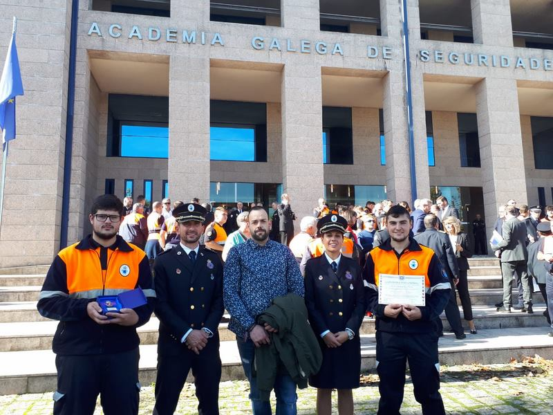 Protección Civil de Tomiño galardoada polos seus 25 anos de traballo