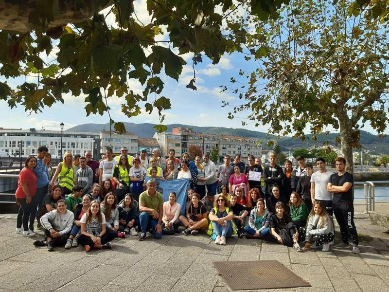 O grupo do proxecto 'Xacobeo Autismo, un camiño para todos' alcanza A Ramallosa na súa penúltima etapa