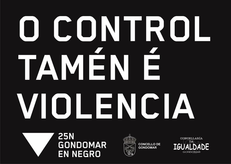 """Gondomar súmase un ano máis á campaña """"En negro contra as violencias"""""""