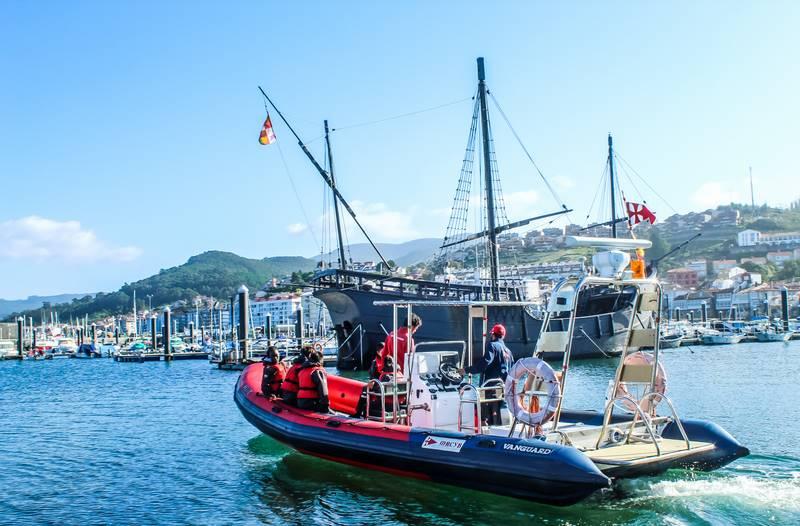Menores tutelados pola Xunta de Galicia achegaranse ao mar da man do MRCY de Baiona