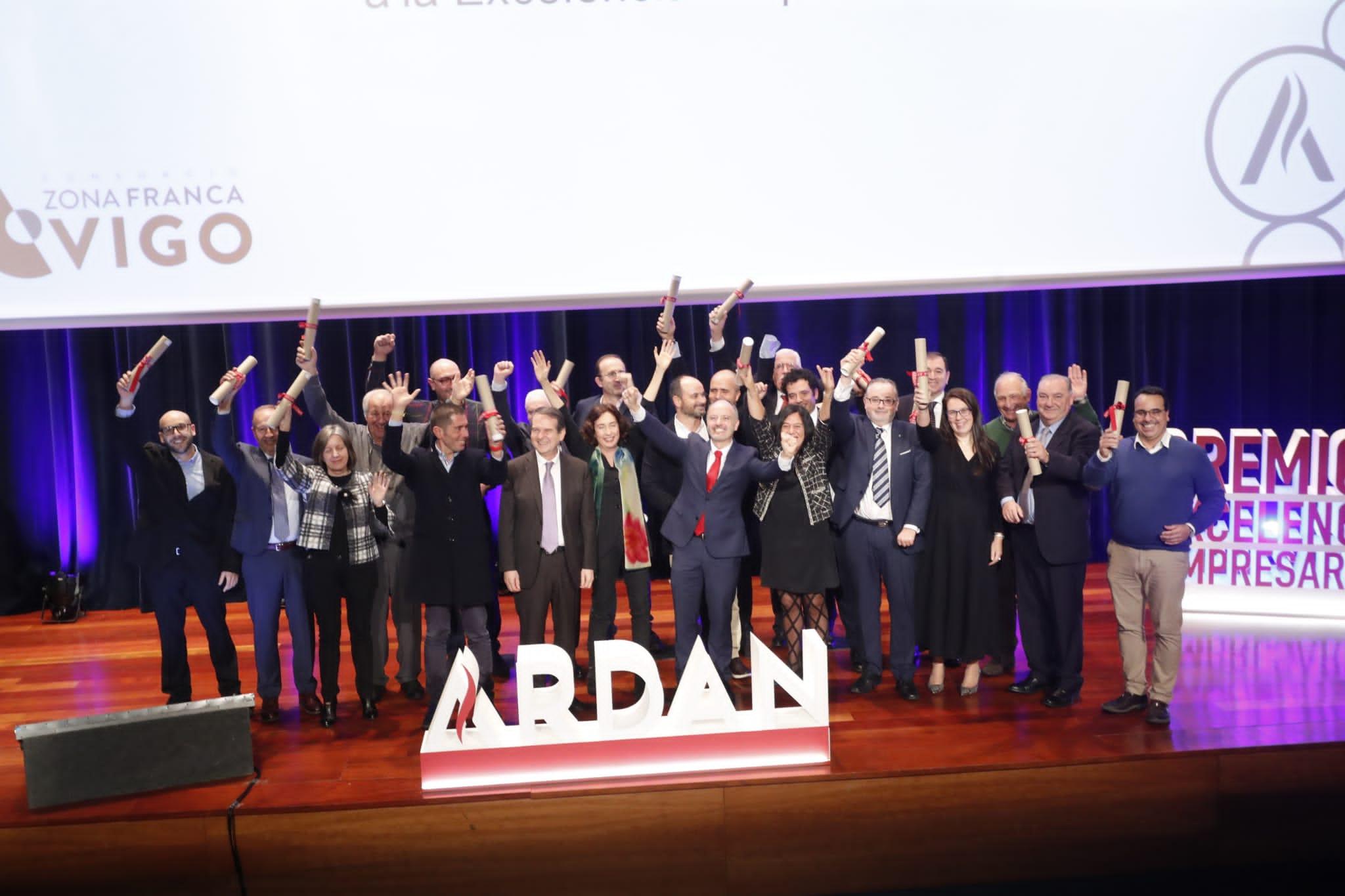 Vinte empresas galardoadas nos premios ARDÁN pola súa excelencia e achega en valor económico e social en Galicia