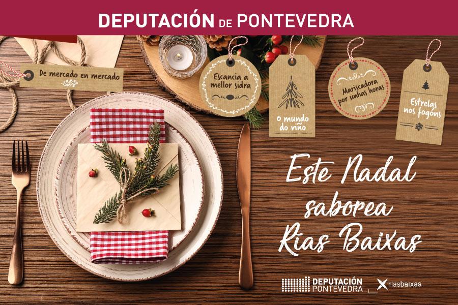 """""""Este Nadal saborea Rías Baixas"""", unha campaña comprometida cos productos de proximidade e co medio ambiente"""
