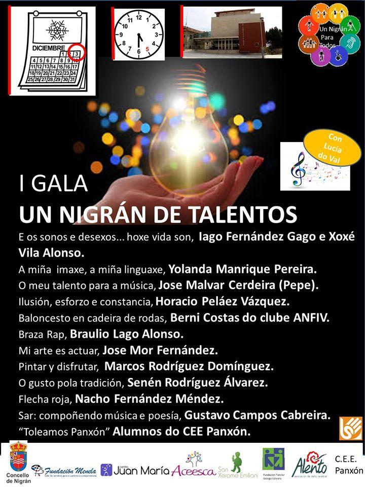 Nigrán celebra o Día Internacional da Discapacidade coa 'I Gala de Talentos' para dar visibilidad ás diferentes aptitudes das persoas