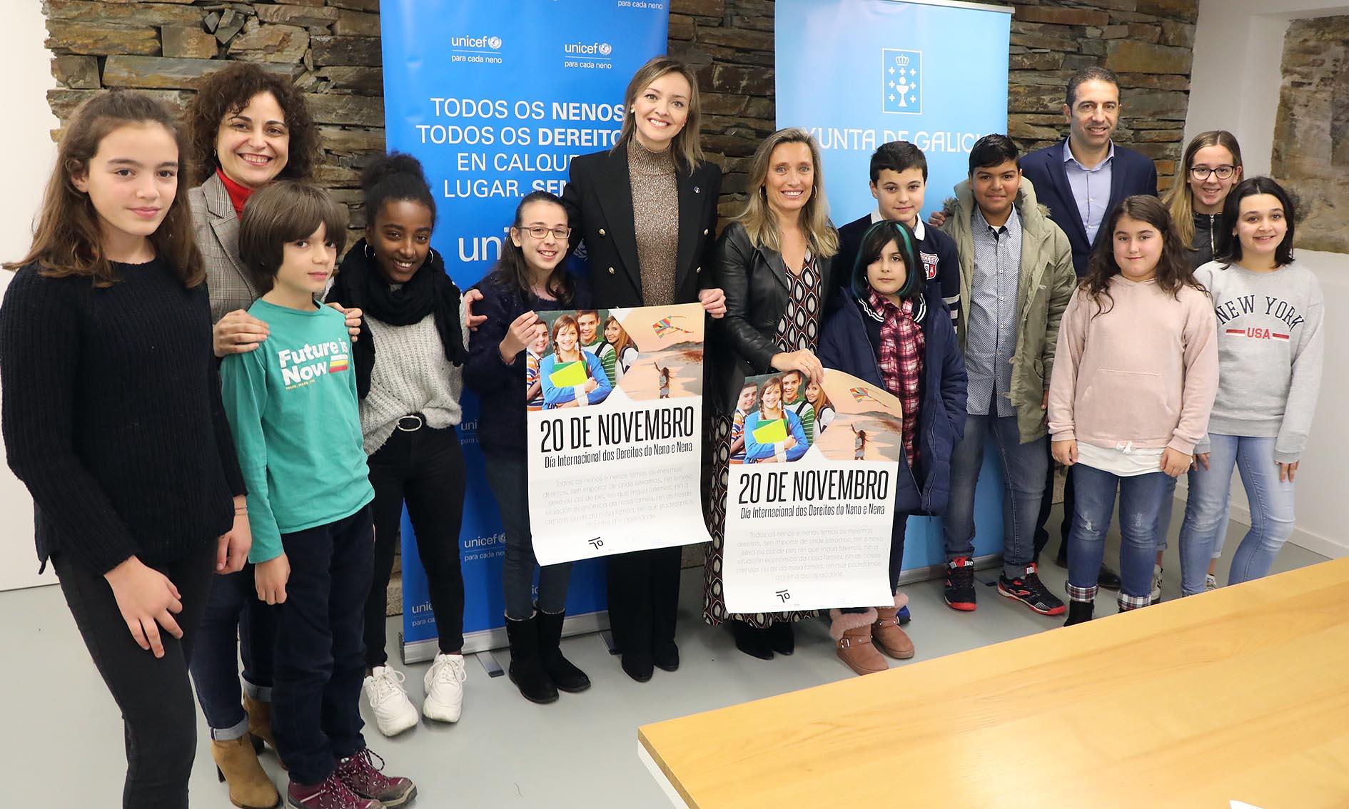 Representantes do Consello da Infancia e da Adolescencia de Ponteareas participan nas III Xornadas Cidades Amigas da Infancia