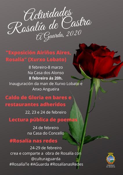 A Guarda celebrará o Día de Rosalía cunha exposición de fotografías sobre a vida da senlleira escritora galega