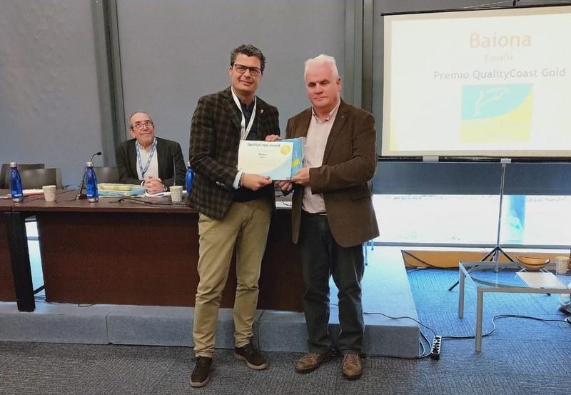 """Baiona recibe en FITUR o premio """"Quality Coast"""" que o recoñece como destino sustentable internacional"""