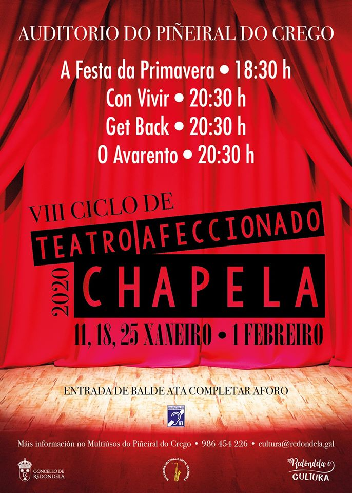 Chapela celebra o seu VIII Ciclo de Teatro Afeccionado
