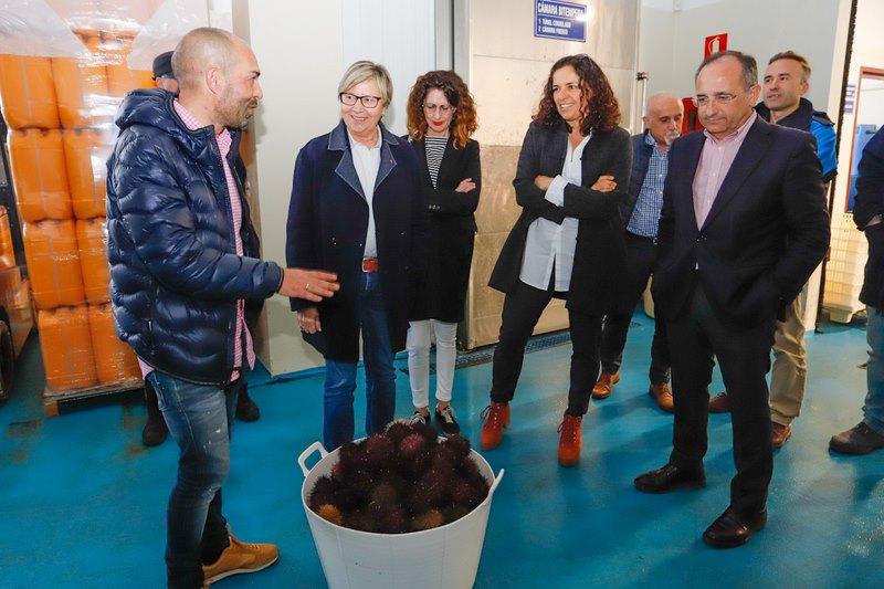 A confraría de Cangas avalía as necesidades do sector da zona coa conselleira do Mar