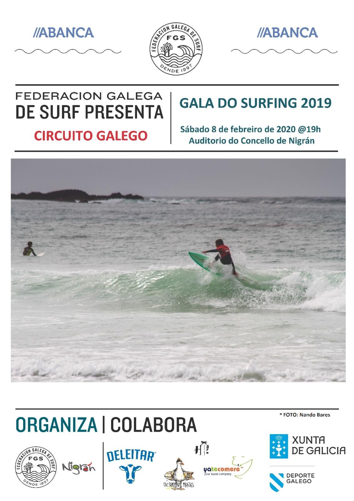 Os mellores surfistas de Galicia se darán cita en Nigrán na Gala do Surf 2019