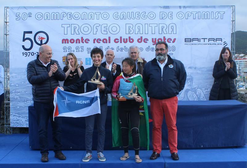 Pablo Rodríguez e Mencía Casas, novos campións galegos de Optimist
