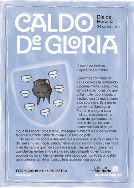 """O """"Caldo de Gloria"""", a colocación de poemas en espazos públicos e unha campaña nas redes sociais centran a celebración do Día de Rosalía en Tui"""