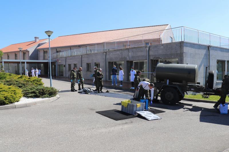 A Brilat colabora nas tarefas de desinfección da Residencia Monte Tecla da Guarda