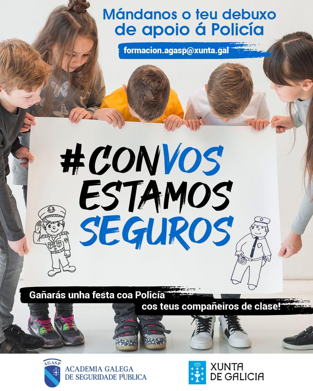Un concurso de debuxo permitirá a escolares galegos trasladar as súas mostras de ánimo e agradecemento a Policía e Garda Civil