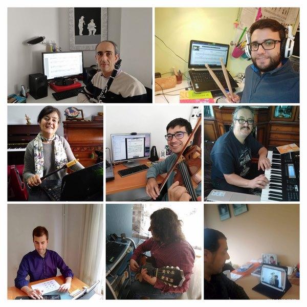 O alumnado do Conservatorio de Música da Guarda continúa coa súa formación de xeito telemático