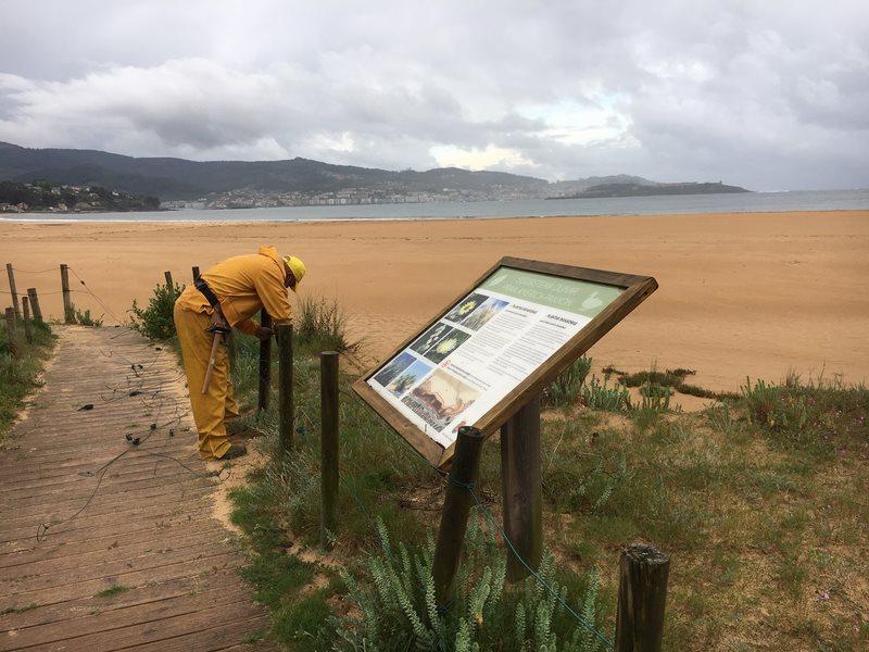 Nigrán renova todo o cercado perimetral do espazo dunar Praia América-Panxón