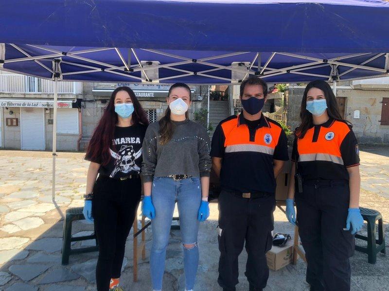 Baiona distribuíu hoxe preto de 20.000 máscaras de protección entre a veciñanza