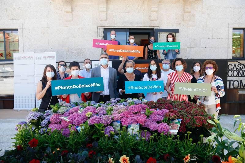 ACUBAM e Deputación presentan unha campaña de apoyo ao viveirismo da planta ornamental e da flor cortada do Baixo Miño