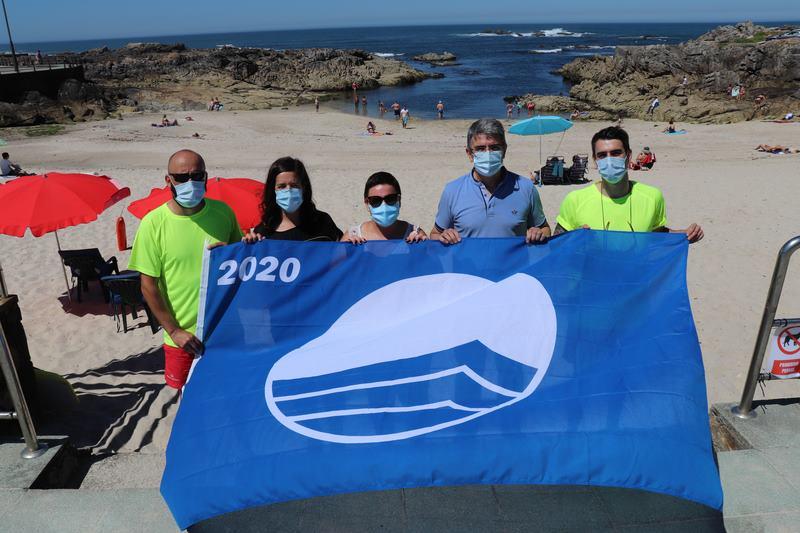 """As praias de """"O Muíño"""" e """"Area Grande"""" da Guarda lucirán un ano máis o distintivo de bandeira azul"""