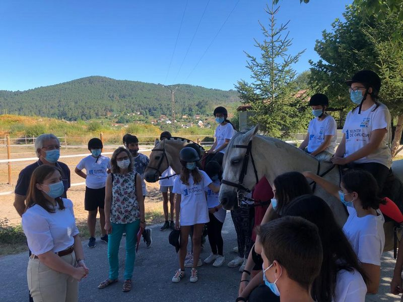 O colexio Cemar de Mondariz balneario acolle por primeira vez un campamento dentro da campaña de verán da Xunta
