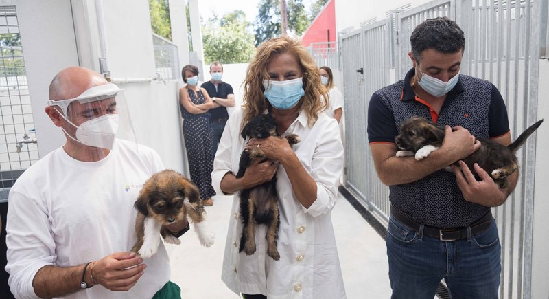 A presidenta da Deputación inaugurou as obras de mellora no Centro de Acollida e Protección de Animais de Pontevedra (CAAN)