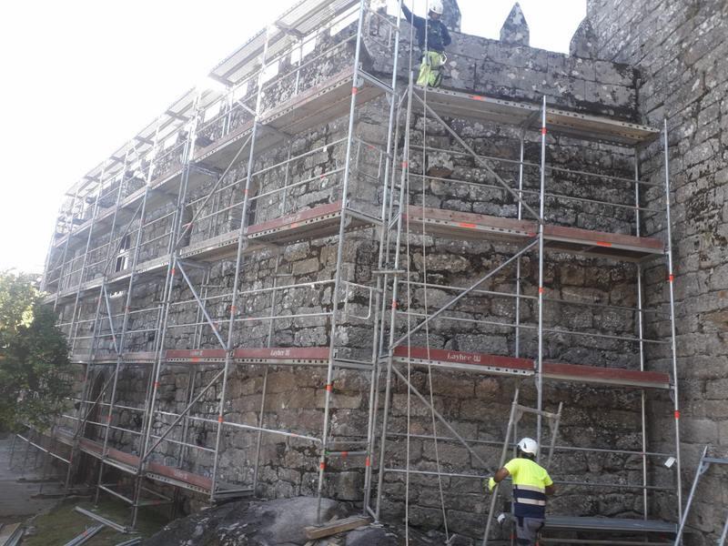 A Deputación de Pontevedra inicia as obras de conservación na cuberta e na fachada do do Castelo de Soutomaior