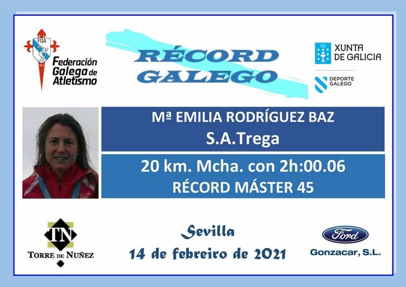 A guardesa Milu Rodríguez proclamouse campioa de España de 20km marcha na categoría Máster-45