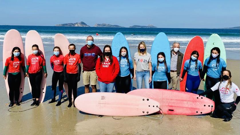 Presentan en Nigrán 'O Teu Camiño' unha proposta de Prado Surf Escola destinada aos escolares de Galicia
