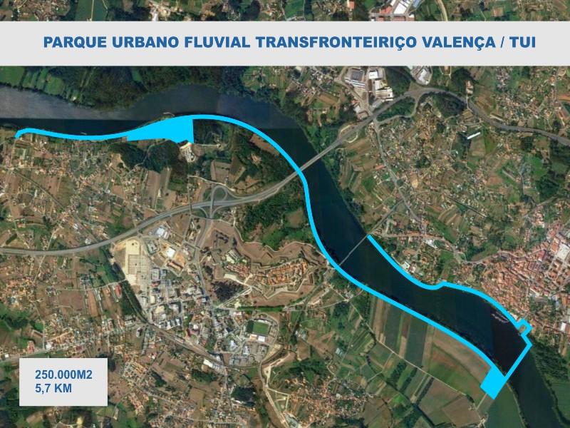 A Eurocidade Tui Valença proxecta a creación dun parque fluvial transfronteirizo con ponte peonil