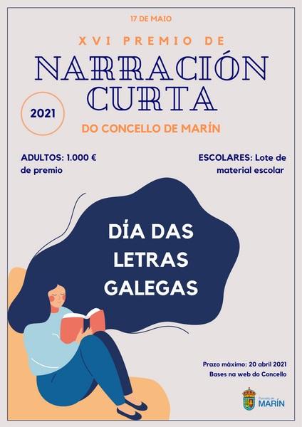 O XVI Premio de Narración Curta do Concello de Marín volverá para conmemorar o Día das Letras Galegas