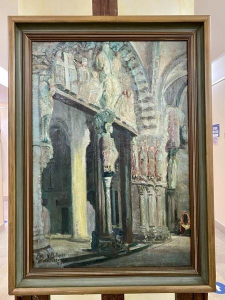 O Pórtico da Gloria de Villafinez de volta no Museo Torres de Marín tras a súa restauración