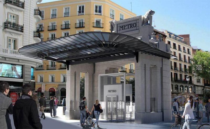 """O templete de Antonio Palacios """"volve"""" á Gran Vía madrileña 100 anos despois"""