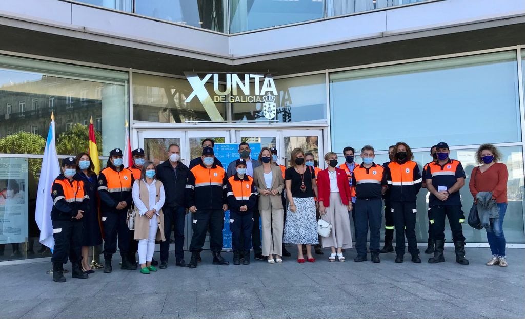 A Xunta concede novos carnés de voluntarios de Protección Civil ás agrupacións de Moaña, Redondela, O Porriño e Soutomaior