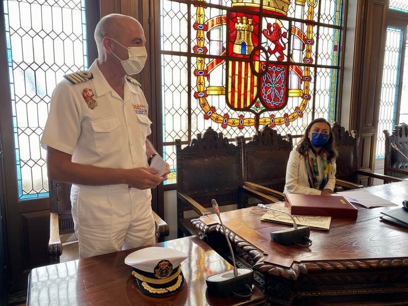 Emotiva despedida ao comandante director da Escola Naval Militar, Ignacio Cuartero Lorenzo