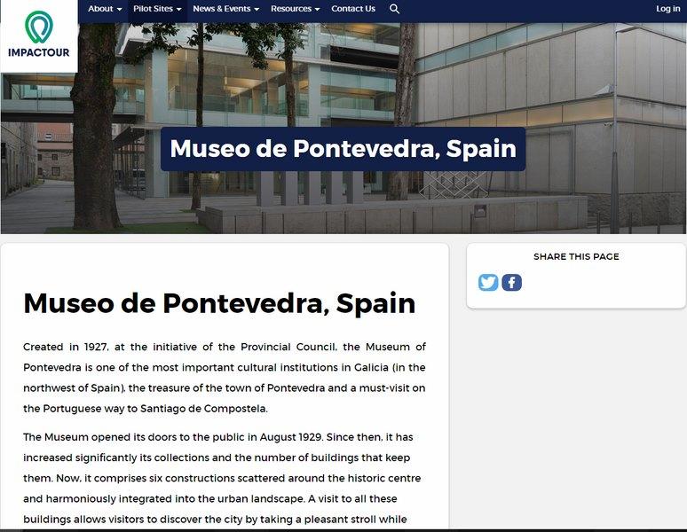 O Museo de Pontevedra sumase como entidade piloto de analise a un proxecto europeo sobre turismo cultural