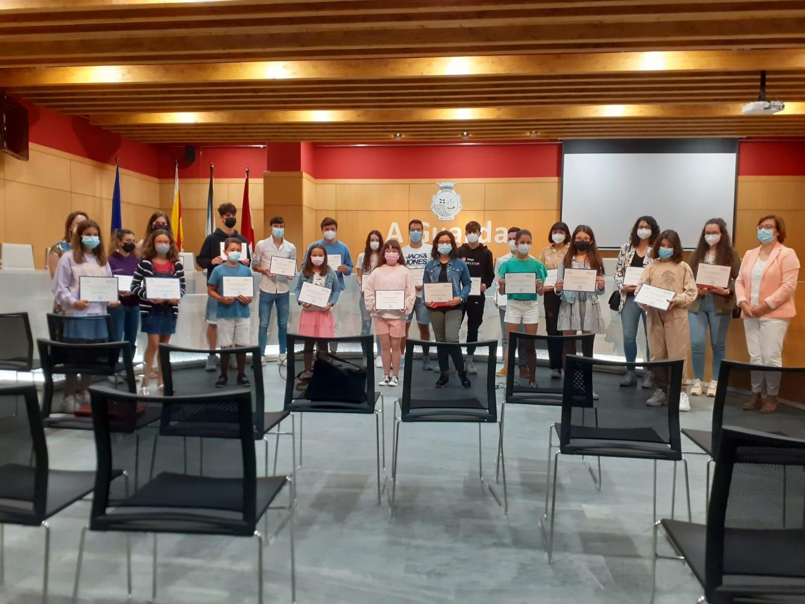 O Concello da Guarda entrega os Premios de Educación 2020-21