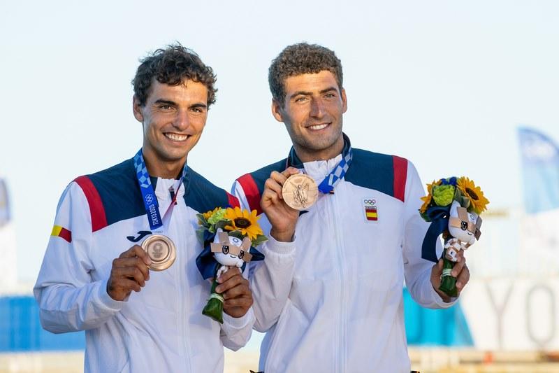 Os Premios Nacionais de Vela Terras Gauda recoñecen a Jordi Xammar e Nico Rodríguez como mellor equipo olímpico