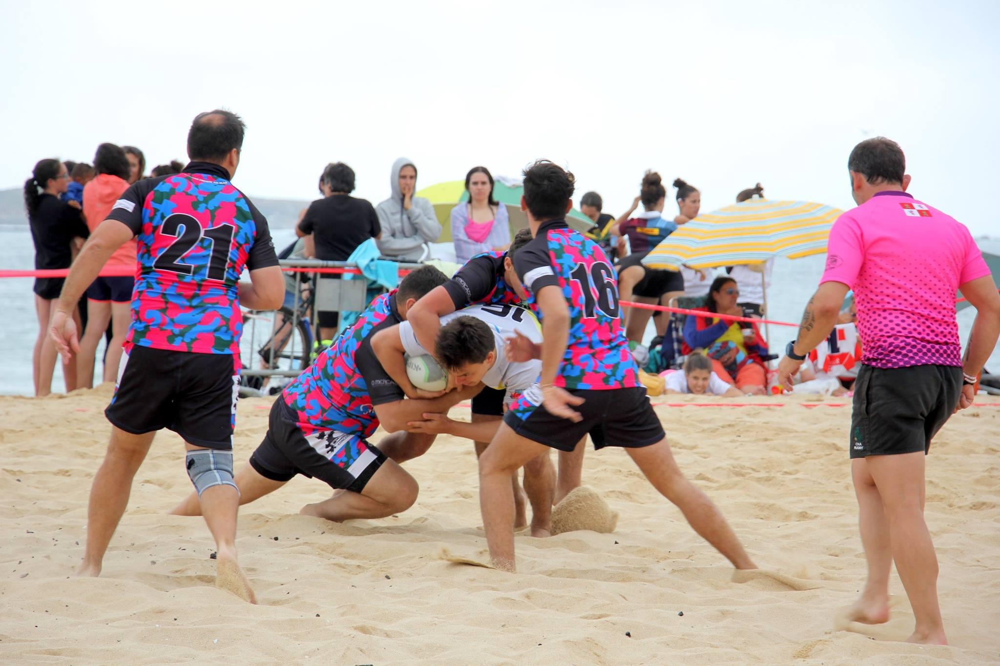 A praia de Panxón acolle este sábado a xa clásico Torneo Internacional de Rugbi - Praia