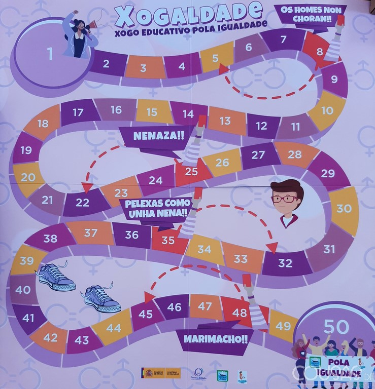 Bueu presenta Xogaldade un xogo da igualdade destinado aos centros educativos do municipio